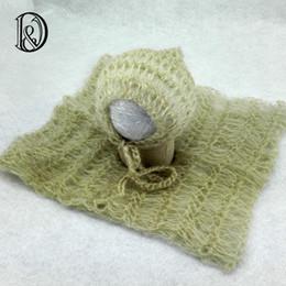 Wholesale Mohair Crochet Wrap - Wholesale-Handmake Crochet Mohair Wraps With Hat(full set)Baby Shower Gift Newborn Crochet OutfitsNewborn Photography Props Accessories