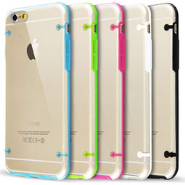 Wholesale Glow Dark Crystals - For Iphone 7 7Plus 7+ 6 6+ Plus Glow in Dark Luminous Hybrid Hard Clear transparent Crystal Plastic Soft TPU Gel cover case 50pcs 100pcs