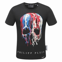 Wholesale Hot Summer Tees - Hot New Summer Robin Medusa Fashion Skulls Print Applique Men Casual Cotton Short Sleeve Tide T Shirts Slim Pullover Tee
