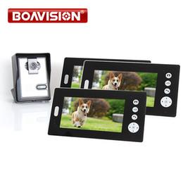 "Wholesale Doorbell Intercom Vision - 7"" TFT 2.4G Wireless Video Door Phone Intercom Doorbell Home Security Camera Monitor Night Vision 1to3"