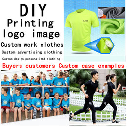 Wholesale Corporate Black - DIY Fast Quick drying clothes custom made Sports T-shirt logo breathable short-sleeved outdoor advertising shirt corporate culture clothing