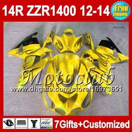 ninja kawasaki carenados amarillo Rebajas 7cambios para KAWASAKI 12-13 Llamas negras NINJA ZZR1400 2012 2013 2012 2013 ZZR 1400 2C5204 ZZR-1400 ZX14R Yellow blk 12 13 12 13 Carenado