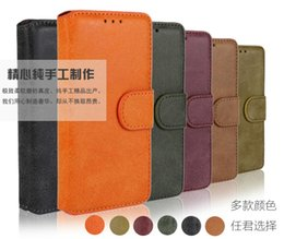 Wholesale S3 Cover Credit Card - Retro Matte PU Leather Wallet Pouch Case For Samsung Galaxy Ace 4 G313 S3 S5 Note 5 4 A5 Matt Stand Credit card Cover Frosted Antique Ski