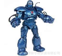 Wholesale Iron Man Marvel Toy - 8 Inch Blue Iron Man Hero Marvel Action Figures PVC Doll Toys Model Boy Birthday Gifts New Arrival Free Shipping