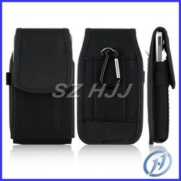Wholesale Cell Phone Case Belt Clip - Universal Case for Cell Phone Samsung S3 S4 i9300 i9500 i9250 HTC IP 3G 4G 5G 6 Black Belt Clip with Hook and Stylus Hole Bag Pouch