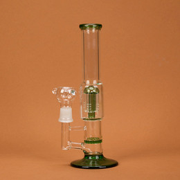 """Wholesale Free Disk - Amazing Glass Pipe 9.8"""" Water Smoking Pipe Perc Honeycomb Disk Pipe Bong With 5 Arm Tree Perc Vase 25cm Height 3 Colors WP044"""