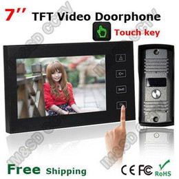 """Wholesale Wireless Outdoor Intercom System - Home Security 7"""" Inch TFT Touch Screen LCD Color Video Door Phone Doorbell Intercom system Night Vision Eye Camera Doorphone A5"""