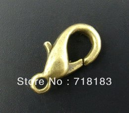 Wholesale Parrot Nose - Wholesales 100Pcs Bronze Tone Lobster Parrot Clasps 14x7mm Key Ring Jewelry Findings Free Shipping(W02830)
