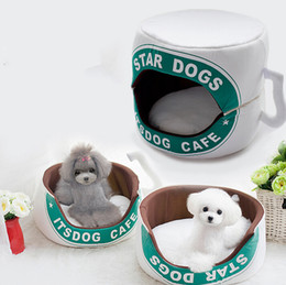 Wholesale Dog Kennel Cushions - Very Cute Pet Cushion Dog Bed House Bed For Cat Cushion Kennel Pens Doggy Puppy Sofa Sleeping Bag Warm Free Shipping 07 1PC