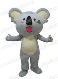 Wholesale Mascot Costume Koala - AM9207 Koala Bear mascot costume Fur mascot suit animal mascot outfit adult fancy dress