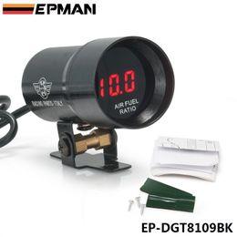 Wholesale Fuel Meter - EPMAN 37mm - Compact Micro Digital Smoked Lens Air Fuel Ratio Gauge Gauge Auto gauge   meter Black EP-DGT8109BK