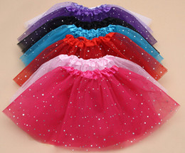 Wholesale Green Costumes - 2015 new girls glitter ballet Dancewear tutu skirt Girls Bling Sequins Tulle Tutu Skirts Princess Dressup paillette skirts Costume 12pcs lot