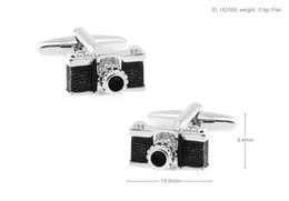 Wholesale Rare Cameras - High Quality New Classic Silver Copper Mens Wedding Cufflinks Novelty Rare Fancy Camera & Clean Cloth 162569
