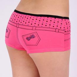 Wholesale Shape Lingerie - 2015 New Lady sport underwear Jeans shape women boxer short stretch lady panties women boyshort lingerie intimate undergarment lady boyleg