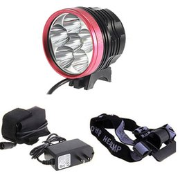 Wholesale Cree Headlamps For Sale - Red LED Bicycle Front Head Lights Rechargeable Cree T6 Bike Headlamps for Cycling Aluminum Alloy Material Hot Sale 6T6 with 18650 battery