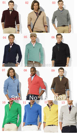 Wholesale Men Coat Sweaters - Wholesale-new arrival cardigan v neck polo sweater, men cotton casual coat, fashion brand knitted sweater half zipper jumper