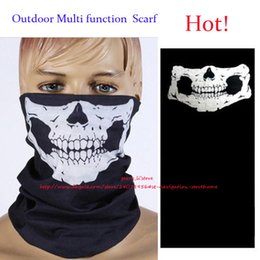 Wholesale Wholesale Cycling Bikes - Outdoor Sports Cycling Bike Bicycle Riding Fashion Skull and Crossbones Veil Multi Head Scarf Face Bandana Skull Scarves Wicking Seamless