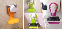Wholesale Phone Holder Ac Wall - Wholesale-Wholesale Best price Mobile phone bag Mobile Cell Phone Holder Hangs AC Wall Charger charging rack 600pcs lot