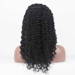 Wholesale Long Half Wig Human Hair - 100% Brazilian Remy Human hair Deep Wave African American Full &Front Lace Wig Hot Sale Stock In Stock Delivery Fast