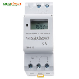 Wholesale Digital Timer Relay Switch - SINOTIMER Brand Microcomputer Electronic Programmable Digital TIMER SWITCH Time Relay Control 110 220V AC 16A Din Rail Mount HOT +TB