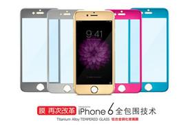 Alliage de titane 9H écran trempé pour iPhone 6 Protecteurs d'écran 0.3mm Colordul trempé protecteur d'écran en verre galaxy s6 iphone 6 plus ? partir de fabricateur
