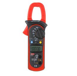 Wholesale T Clamps - UNI-T 400A AC DC Auto Range Digital Clamp Multimeter w Voltage Resistance Frequency Test UT203 Multimetro,dandys