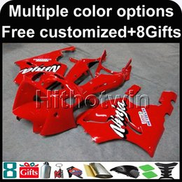 Wholesale 1996 Zx7r Red - 23colors+8Gifts RED ZX7R 1996 1997 1998 1999 2000 2001 2002 2003 bodywork kit motorcycle Fairing For Kawasaki 1996 - 2003