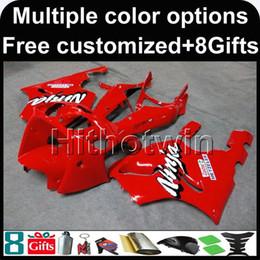 Wholesale Orange Kawasaki Fairing Kits - 23colors+8Gifts RED ZX7R 1996 1997 1998 1999 2000 2001 2002 2003 bodywork kit motorcycle Fairing For Kawasaki 1996 - 2003
