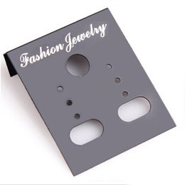 Wholesale Black Earring Hang Cards - Wholesale-New Arrival 100pcs Professional Plastic Earring Ear Studs Holder Display Hang Cards Black Drop Shipping EAR-0276