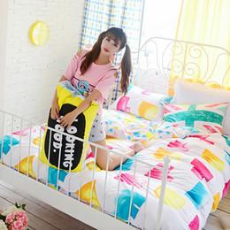 Wholesale Double Set 4pc - Wholesale-colorful Cotton bedding set for double bed,5pcs silk comforter set,4pc bedcover sets,fast shipping