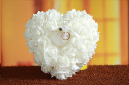 Wholesale Romantic New Year - Beautiful Samll Flowers For Rings White Elegant Wholesale Cheap Wholesale Bridal Mariage Romantic Wedding Bouquet Accessories