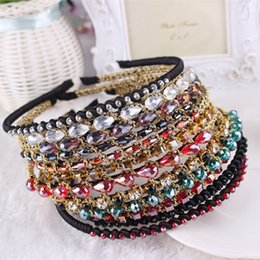 Wholesale Hair Accessories Jewels - HipGirl Girls   Women Ribbon or Jewel Headbands Girls   Women Bejeweled Sparkle Headbands--Color May Vary Children's Hair Accessories