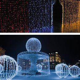 Wholesale Decoration Wedding Curtain Lights - 1600 LED lights 10*5m Curtain Lights, LED Star String Fairy String light Festival Christmas Flash light, for Party wedding Decoration