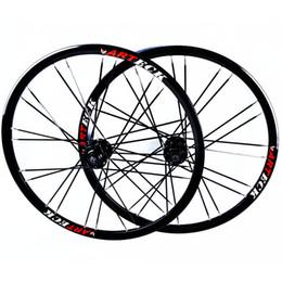 Wholesale Road Wheels Disc - Wholesale-Mountain Bikes Road Bicycles Disc Brake alloy wheels Hubs Rim circle Wheelset 26'' inch 24 Holes
