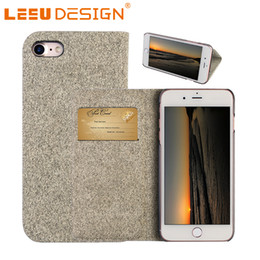 Wholesale Case Jean Iphone - LEEU DESIGN jean leather cover for iphone 7 super thin with card slot for iphone 6 7 8 plus s8 note 8