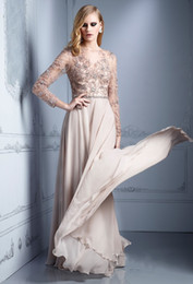 2015 великолепные аппликации из бисера шифон мать невесты платье-line длина пола высокая шея с длинными рукавами женщин платья от Поставщики черное свадебное платье для матерей