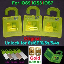 Wholesale Iphone 4s Sim - NEWEST R-SIM10 plus RSIM 10+ R SIM R-SIM10+ For iphone 6S 6 plus 5S 5C 5G 4S IOS9 IOS 9 9.1 GSM CDMA WCDMA 4G 3G 2G unlock sim R 11 10+