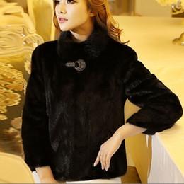 Wholesale Marten Collars - Wholesale-Large Size 5XL 6XL Faux Fur Bolero Jacket For Women Warm Winter Rabbit Fur Coats Mink Marten Fur Coat Overcoat Stand Collar