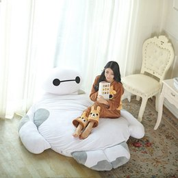 Wholesale Tatami Floor Cushion - Giant Cartoon Mattress Big Hero 6 Cushion Plush Baymax Doll Cartoon Sofa Bed Tatami Totoro Bed Beanbag Pad Floor Mattress