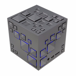 Wholesale Party Mp3 - Cube Wireless Speaker Stereo Magic Cube Music Player with Colorful LED Light Mini Speaker for iPhone iPad,Home Outdoor Party