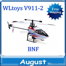 Wholesale V911 Rc - WLtoys V911-2 2.4Ghz Remote Control 4CH single blades RC Helicopter v911 update version LCD light rc helikopter Free Shipping