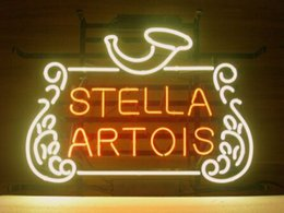 "Wholesale Neon Lights Logo - Stella Artois Bar Beer Pub Store Display New Neon Light Sign Avize Neon Light Sign Real Glass Tube Custom Logo 16""X13"""