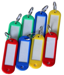 Wholesale Color Rings Plastic - 20 Pieces Assorted Color Coded Key Tag with Label Window Ring Holder with LCD Cleaner Stylus