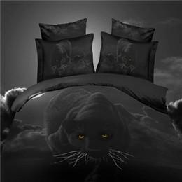 Wholesale Tiger Sheet Set - Wholesale-Home textile black 3D bedding set 4pc animal bed cotton set wolf duvet cover set bed sheet horse lion tiger queen king bed linen