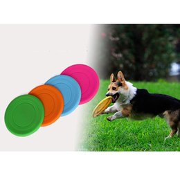 Wholesale Flying Puppies - 2015 New Dog Puppy Cat Pet Training Fetch Toys Frisbee Flying Dish Silicone Dogs Frisbee Free Shipping