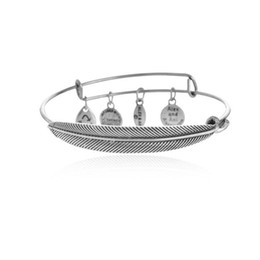 Wholesale Alex Ani Bracelet Initial - Wholesale Alex and Ani Initial alphabet Bangle silver gold plated simple wiring luckly bracelets for men women charm pulseras