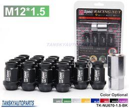 Wholesale wheel lugs - Tansky - 20PCS BLACK For HONDA ACURA CIVIC INTEGRA JDM D1Spec Racing Wheel Lug Nuts M12 X1.5MM With Lock TK-NU670-1.5-BK