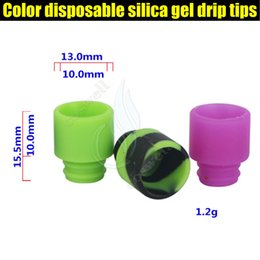 Wholesale Silica Tips - New Color disposable silica gel 510 drip tips huge vaporizer wide bore Mouthpiece dripper tip e cig cigarette atomizer RDA tank Dripping DHL