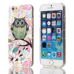 Wholesale Owl Phone Covers - Cartoon Owl Shape Hard Case Cover mobile phone Cover Case 4.7 Inch for iphone 6 Cartoon case Covers Phone Case