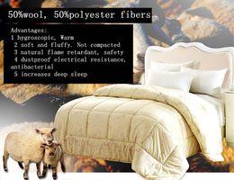 Wholesale Duvet Wool - Wholesale-Quilt for winter Warm Wool Duvet   quilt  comforter   size:Quilt  Double Queen free shipping